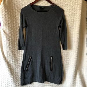 ASOS Sweater Dress with Pockets Gray Size 4